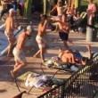 Texas, mega rissa in piscina tra turisti britannici4