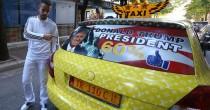 Tirana, tassista tappezza auto FOTO Donald Trump e fa boom di clienti