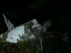 Guarda la versione ingrandita di Le immagini dell'aereo diffuse dalla tv della Macedonia