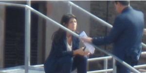 Guarda la versione ingrandita di Virginia Raggi sul tetto del Campidoglio: FOTO su Twitter