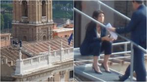 Virginia Raggi sul tetto del Campidoglio: FOTO su Twitter7