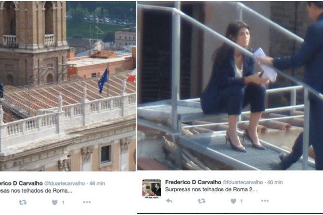 Virginia Raggi sul tetto del Campidoglio: FOTO su Twitter3