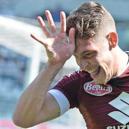 Torino-Roma 3-1, il 'Gallo' Belotti esulta dopo il gol nella foto Ansa