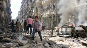 Siria, raid su Aleppo: almeno 90 morti, molti bimbi