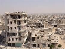 Le rovine di Aleppo
