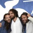 Mirko Frezza e Alessandro Borghi col regista Michele Vannucci ANSA/CLAUDIO ONORATI