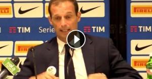Guarda la versione ingrandita di Juventus, Allegri nervoso in conferenza stampa VIDEO