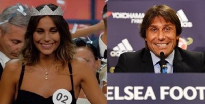 Antonio Conte e la nuova Miss Italia Rachele Risaliti