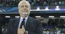 Napoli-Roma, De Laurentiis dimezza prezzi biglietti e tende mano a tifosi