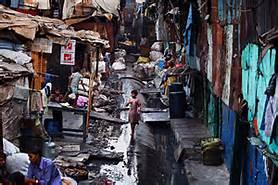 Una baraccapoli a New Delhi