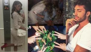 Guarda la versione ingrandita di Belen Rodriguez e Andrea Iannone, è love story: baci e balli a Milano FOTO