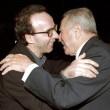 Carlo Azeglio Ciampi con Roberto Benigni in una foto d'archivio (foto Ansa)