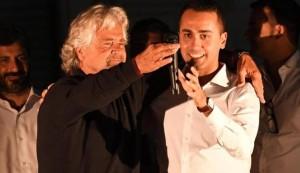 Beppe Grillo e Luigi Di Maio (foto Ansa)