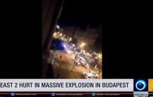Guarda la versione ingrandita di Budapest: esplosione in centro, feriti due poliziotti