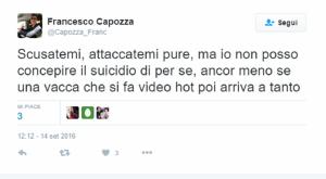 """Francesco Capozza (Corecom): """"Tiziana Cantone vacca che si fa video"""" FOTO"""
