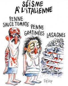"""Charlie Hebdo, le scuse di un collaboratore: """"Vignetta terremoto fa schifo"""""""