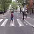 """YOUTUBE Pedone contro ciclista, quasi rissa: """"Ti devi fermare, è la legge!""""06"""
