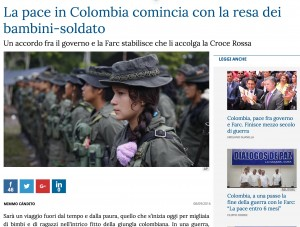 Colombia-Farc, la pace parte dai bambini soldato: entro sabato 10 devono consegnare le armi