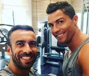 Cristiano Ronaldo e Ricky Regufe (foto Instagram)