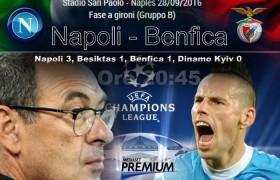 Napoli-Benfica streaming e diretta in tv, dove vedere partita