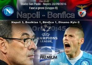 Napoli-Benfica streaming e diretta tv, dove vederla