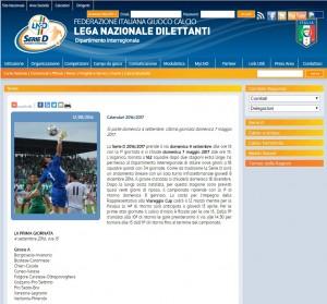 Serie D, Dilettanti 2016-17: GIRONE A, calendario e squadre