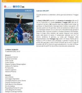 Serie D, Dilettanti 2016-17: GIRONE B, calendario e squadre