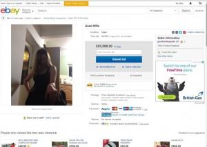 Guarda la versione ingrandita di Mette in vendita la moglie su eBay: