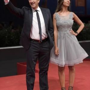 Ezio Greggio e Simona Gobbi (foto Ansa)