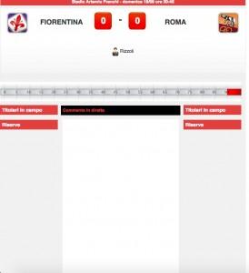 Fiorentina-Roma diretta live su Blitz. Formazioni ufficiali-video gol highlights