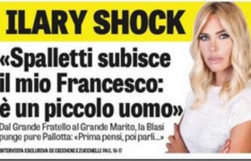 """Ilary Blasi: """"Spalletti subisce Totti, è un piccolo uomo. Pallotta? Prima di parlare…"""""""