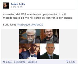 M5S, chi dissente da Grillo viene attaccato pubblicamente