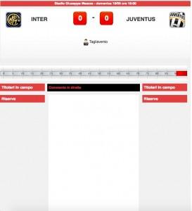 Inter-Juventus diretta live su Blitz. Formazioni ufficiali-video gol highlights