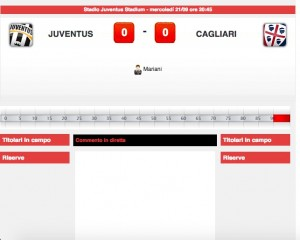 Juventus-Cagliari diretta live su Blitz. Formazioni ufficiali-video gol highlights