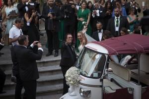 Cristel Carrisi, matrimonio in Apecar. Tanti vip, Loredana Lecciso assente FOTO