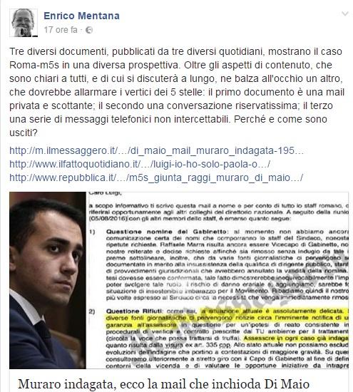"""M5S caos, Enrico Mentana: """"Chi è che passa le carte ai giornalisti?"""""""
