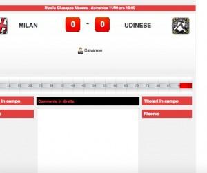 Milan-Udinese: diretta live su Blitz. Formazioni ufficiali dopo le 14