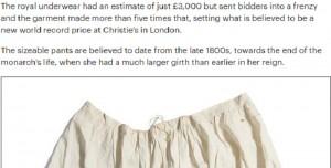 Regina Vittoria: mutandoni venduti all'asta per 19mila euro. Valevano 3500 ma...