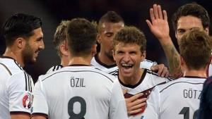 La nazionale tedesca (foto Ansa)