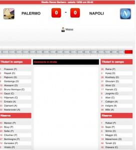 Guarda la versione ingrandita di Palermo-Napoli diretta live su Blitz. Formazioni ufficiali - video gol highlights