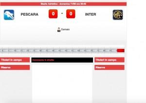 Pescara-Inter: diretta live su Blitz. Formazioni ufficiali dopo le 20