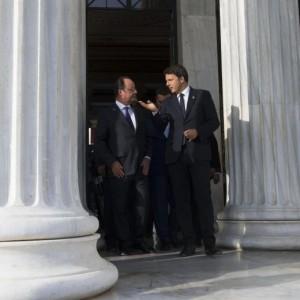 """Germania contro Renzi e Hollande ad Atene: """"Sono degli irresponsabili"""""""
