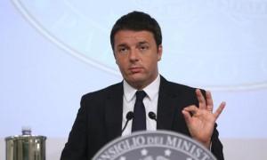 Guarda la versione ingrandita di Italian Premier Matteo Renzi during a press conference in 'Palazzo Chigi', Rome, 13 June 2014. ANSA/ALESSANDRO DI MEO