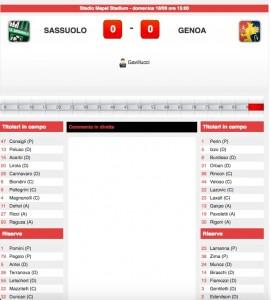 Sassuolo-Genoa diretta live su Blitz. Formazioni ufficiali-video gol highlights