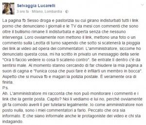 Selvaggia Lucarelli critica una pagina Facebook: fan rispondono così