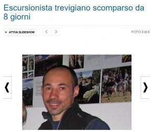 Stefano Barosco, escursionista scomparso da 8 giorni in montagna