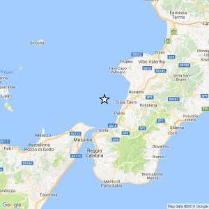 Terremoto vicino Reggio Calabria, magnitudo 3.6 epicentro vicino costa Tirreno