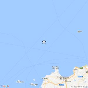 Terremoto Trapani, scossa vicino la costa: magnitudo 3.2