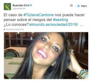 """Tiziana Cantone, polemica in Spagna, Guardia Civil: """"Sexting, riflettete sui rischi"""""""