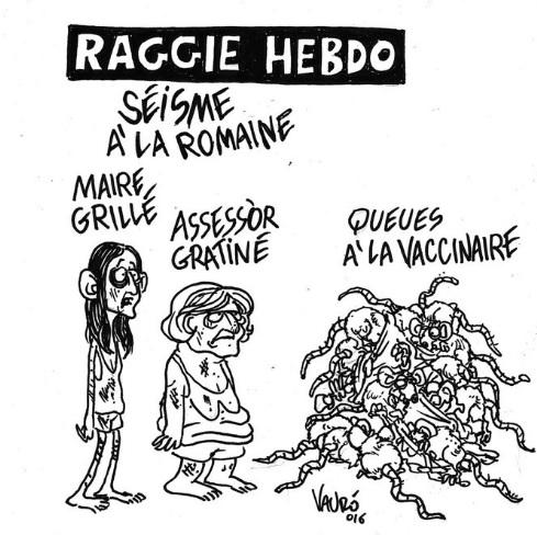 "Virginia Raggi, la vignetta di Vauro: ""Raggie Hebdo"" 02"